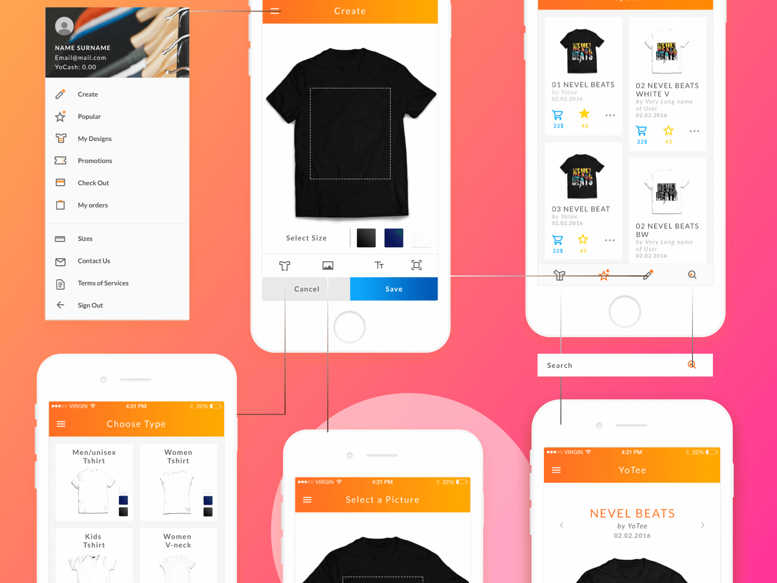 App redesign system